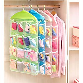 billige Lagring og oppbevaring-Plast Multifunktion Hjem Organisasjon, 1set Oppbevaringshyller Hengere Oppbevaringsposer