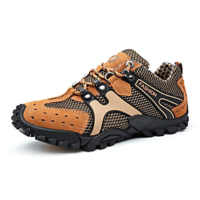 cheap Men's Athletic Shoes-Men's Mesh Spring / Fall Comfort Athletic Shoes Hiking Shoes Gray / Yellow / Dark Brown