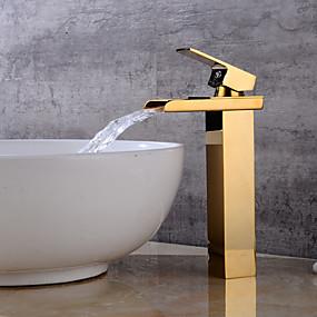 billige Ugentlige tilbud-Baderom Sink Tappekran - Foss Gylden Centersat Enkelt Håndtak Et HullBath Taps