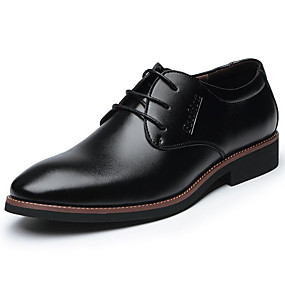 abordables Oxfords pour Homme-Homme Chaussures Formal Cuir Printemps / Automne Business / Confort Oxfords Noir / Marron