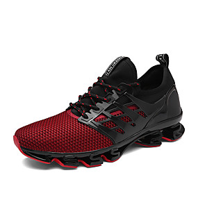 cheap Men's Athletic Shoes-Men's Mesh Spring / Fall Comfort Athletic Shoes Running Shoes Black / Red / Green