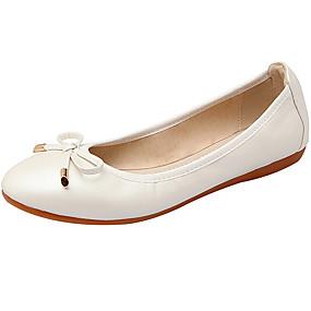povoljno Udobne cipele-Žene Ravne cipele Ravna potpetica Okrugli Toe / Zatvorena Toe Mašnica Mekana koža / PU Balerinke / Svjetleće tenisice Proljeće / Ljeto Pink / Plava / Pink