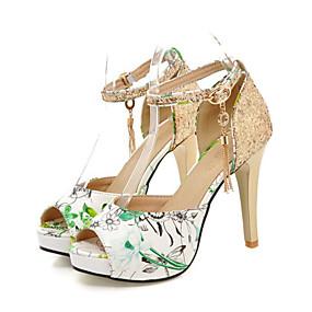 Women s Shoes Synthetic Microfiber PU Summer   Fall Comfort   Novelty  Sandals Stiletto Heel Peep Toe Buckle Red   Green   Blue   Wedding e0c6d33b7082