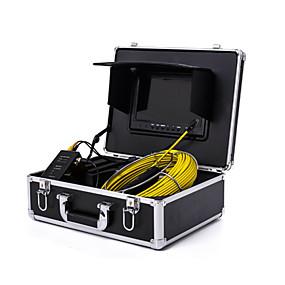 """povoljno -0.3-endoskop cjevovoda inspekcijski sustav 7"""" 30m odvod kanalizacije vodootporni fotoaparat s 12 LED svjetla"""