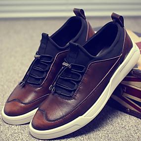 baratos Tênis Masculino-Homens Sapatos Confortáveis Pele Outono / Inverno Tênis Preto / Vermelho / Marron / Cadarço / Ao ar livre / EU41