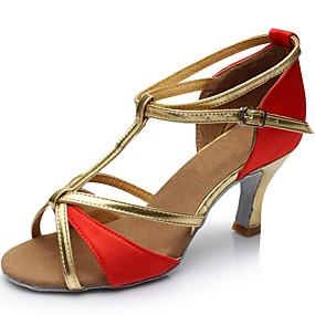 f997229e abordables Zapatos de Baile-Mujer Seda / Semicuero Zapatos de Baile Latino  Sandalia Tacón Personalizado