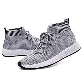 cheap Men's Athletic Shoes-Men's PU(Polyurethane) Spring / Fall Comfort Athletic Shoes Walking Shoes Gray / Black / White / Black / Red