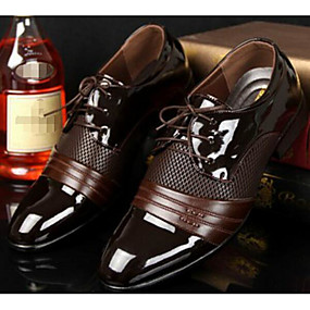 cheap Men's Oxfords-Men's Comfort Shoes PU(Polyurethane) Spring / Fall British Oxfords Black / Brown / EU40