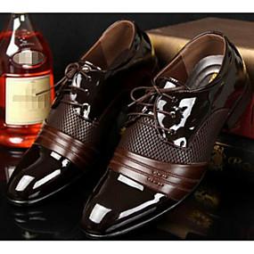 رخيصةأون أحذية أوكسفورد للرجال-رجالي أحذية الراحة PU الربيع / الخريف بريطاني أوكسفورد أسود / بني / EU40