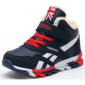 041feb600a59 Boys  Shoes Leatherette Spring   Summer Comfort   Fluff Lining Sneakers for  Dark Blue   Red