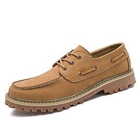 baratos Sapatos Náuticos Masculinos-Homens Sapatos Confortáveis Couro Outono / Inverno Sapatos de Barco Amarelo / Marron / Khaki / Festas & Noite