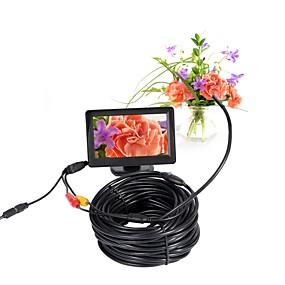 billige Overvåkningskameraer-5.5mm objektiv av endoskop kamera mini kamera 5v ntsc vanntett ip66 15m inspeksjon borescope slange kamera nattesyn