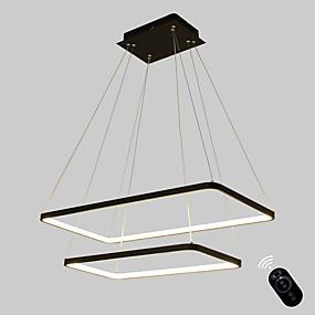 billige Hengelamper-Ecolight™ Lineær Anheng Lys Omgivelseslys Malte Finishes Metall Akryl Pære Inkludert, Justerbar, Mulighet for demping 110-120V / 220-240V Varm Hvit / Hvit Pære Inkludert / G9 / Integrert LED