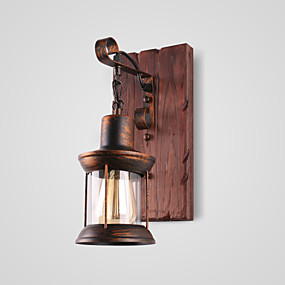 cheap Free Shipping-Lightinthebox Rustic / Lodge / Vintage / Country Wall Lamps & Sconces Outdoor Metal Wall Light 220V / 110V 60W