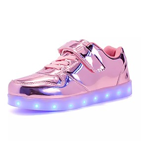 32cc5aa1dc33 Pige Sko PU Efterår   Vinter Komfort   Lysende Sko Sneakers Snøring   LED  for Grøn   Lys pink   Marineblå   TR (termoplast)