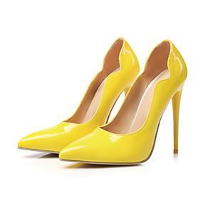 voordelige Wijdere maten schoenen-Dames Hoge hakken Gepuntte Teen Synthetisch Microvezel PU Comfortabel / Noviteit Lente Rood / Roze / Amandel / Bruiloft / Feesten & Uitgaan / Feesten & Uitgaan