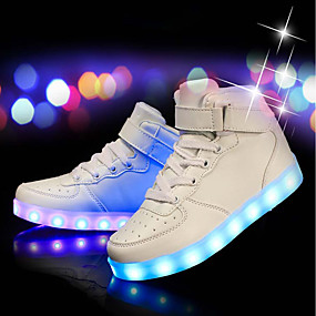cheap Men's Sneakers-Men's Light Up Shoes PU(Polyurethane) Fall / Winter Sneakers White / Black / Red / Party & Evening