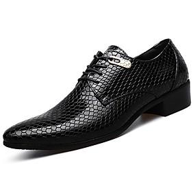 voordelige Wijdere maten schoenen-Heren Comfort schoenen Imitatieleer / PU Lente / Herfst Zakelijk Oxfords Zwart / Blauw / EU40