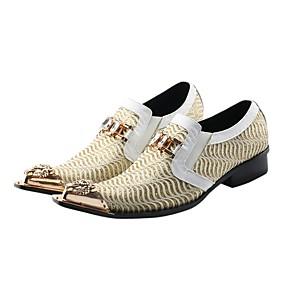 baratos Oxfords Masculinos-Homens Sapatos formais Sintéticos Primavera / Outono Vintage Oxfords Branco / Casamento / Festas & Noite / Sapatas de novidade