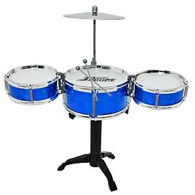 billige Leker til musikk, kunst og tegning-Trommesett Lekeinstrumenter Rund Trommesett Jazz Drum Jente Gutt