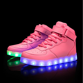 bacadd063b2 Women s Shoes PU(Polyurethane) Spring   Fall Comfort   Light Up Shoes  Sneakers Low Heel White   Black   Pink