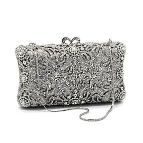 povoljno Clutch torbice-Žene Kristalni detalji Večernja torbica Kristalne vrećice od kristalnog kamena staklo / Metal Cvijetni print Pink