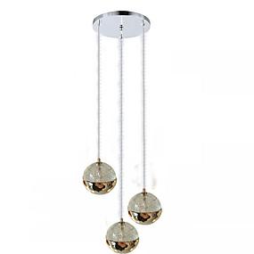 billige Hengelamper-QIHengZhaoMing 3-Light Anheng Lys Omgivelseslys Metall Glass Øyebeskyttelse 110-120V / 220-240V Varm Hvit LED lyskilde inkludert / Integrert LED