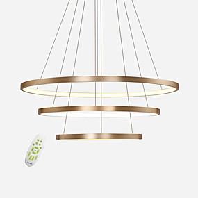 abordables Plafonniers-gradation moderne sans électrode led lampes suspendues max 100w simplicité trois anneaux bureau salon restaurant restaurant lustre