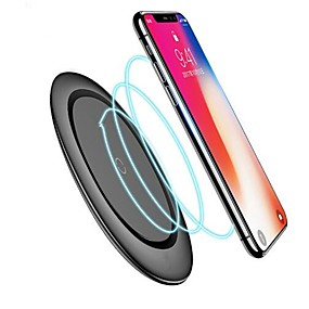 cheap Phone Cables & Chargers-Qi Wireless Charger With Cable for iPhone X Xs MAX XR 8 plus Fast Charging for Samsung S8 S9 S10 Plus Note 9 8 USB Phone Charger Pad