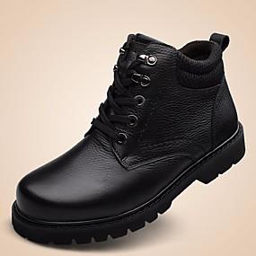 baratos Botas Masculinas-Homens Sapatos Confortáveis Pele Outono / Inverno Botas Botas Curtas / Ankle Preto / Marron / Coturnos / EU41
