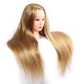 billige Verktøy og tilbehør-Hårstylingsverktøy Syntetisk hår Mannekenghoder til parykker Daglig Klassisk Mørk Kastanjebrun mørk Vin Svart