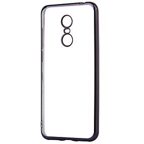 levne Pouzdra telefonu-ASLING Carcasă Pro Xiaomi Redmi 5 Plus Galvanizované / Průhledné Zadní kryt Jednobarevné Měkké TPU pro Xiaomi Redmi 5 Plus