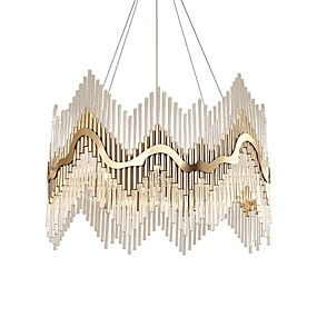 cheap Crystal Lights-QIHengZhaoMing 9-Light Crystal Chandelier Ambient Light Electroplated Crystal Crystal, Eye Protection 110-120V / 220-240V