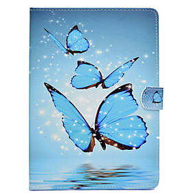 cheap Tablet Accessories-Case For Amazon Kindle Fire hd 8(7th Generation, 2017 Release) / Kindle Fire hd 8(6th Generation, 2016 Release) Card Holder / Shockproof / with Stand Full Body Cases Butterfly Hard PU Leather for