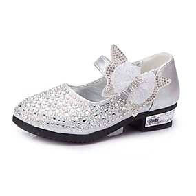 5eead700e91d Girls' Shoes Leatherette Spring / Fall Comfort / Flower Girl Shoes Heels  Rhinestone / Bowknot / Sparkling Glitter for Silver / Blue / Pink