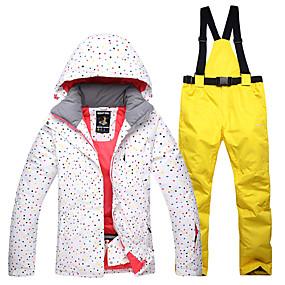 economico Svendita-Per donna Giacca e pantaloni da sci Ompermeabile Antivento Caldo Sci Cotone Giacca invernale Pantaloni da sci Abbigliamento da neve / Inverno