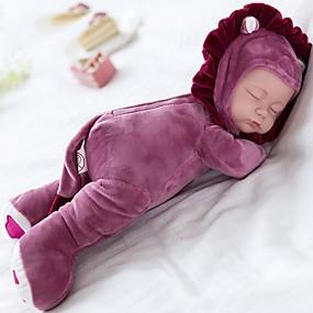 お買い得  トイズ-ぬいぐるみ人形 赤ちゃん 14 インチ シリコーン ビニール - 歌います チャイルドセーフ Non Toxic 睡眠 子守歌を演奏する 3つの曲の選択肢 子供 女の子 おもちゃ ギフト / フロッピーヘッド / ナチュラルスキントーン