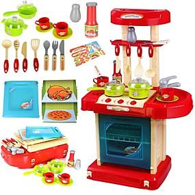 povoljno Igre oblačenja i pretvaranja-Toy Kuhinjske garniture Kuhinja Sink Toy Igrajte kuhinju Obitelj Fin Interakcija roditelja i djece Plastično kućište Dječji Djevojčice Igračke za kućne ljubimce Poklon