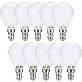 halpa LED-lamput-EXUP® 10pcs 7 W 680 lm E14 / E26 / E27 LED-pallolamput G45 6 LED-helmet SMD 2835 Koristeltu Lämmin valkoinen / Kylmä valkoinen 220-240 V / 110-130 V / 10 kpl / RoHs / CCC / ERP / LVD