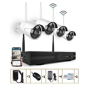 cheap Wireless CCTV System-Strongshine® 4CH Network Video Recorder H.264 960P Wireless CCTV NVR Kit with 1.3MP IR IP Camera