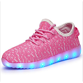 cbbdf8403de Boys  Shoes Tulle Fall Light Up Shoes Athletic Shoes Walking Shoes LED for  Blue   Green   Pink   Rubber   EU37