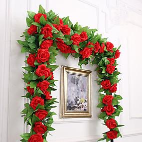 economico Casa e giardino-Fiori Artificiali 1 Ramo Party / serata Matrimonio Rose Ghirlande e fiori da appendere