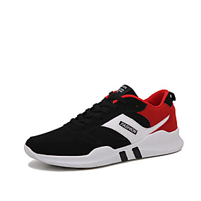 cheap Running Shoes-Men's PU(Polyurethane) Winter Comfort / Fur Lining Athletic Shoes Running Shoes Gold / Black / White / Black / Red
