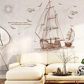 cheap Others-Decorative Wall Stickers - Animal Wall Stickers Landscape Nautical Living Room Bedroom Bathroom Kitchen Dining Room Study Room / Office