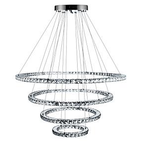 abordables Plafonniers-Circulaire Lustre Lumière d'ambiance Plaqué Métal Cristal, Intensité Réglable, LED 110-120V / 220-240V Dimmable avec télécommande Source lumineuse de LED incluse / LED Intégré