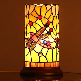 billige Tiffany Lamper-Tiffany Øyebeskyttelse Bordlampe Til Soverom / Barnerom Glass 110-120V / 220-240V