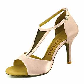 2070837a Mujer Zapatos de Baile Latino / Zapatos de Salsa Satén Sandalia / Tacones  Alto Hebilla / Corbata de Lazo Tacón Personalizado Personalizables Zapatos  de ...