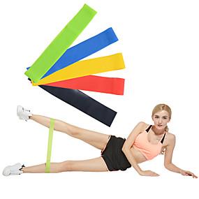 voordelige Pilates-Trainingsweerstandbanden Emulsie Verbrande calorieën Non Toxic Rekbaar Krachttraining Fysiotherapie Yoga Pilates Fitness Voor Huis Kantoor