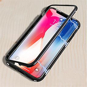 olcso iPhone tokok-Case Kompatibilitás Apple iPhone X / iPhone 8 Tükör / Mágneses Héjtok Egyszínű Kemény Fém mert iPhone X / iPhone 8 Plus / iPhone 8