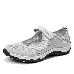 141fa928213 Γυναικεία Παπούτσια Λινό Ανοιξη καλοκαίρι Ανατομικό Αθλητικά Παπούτσια  Επίπεδο Τακούνι Μαύρο / Γκρίζο / Σκούρο μωβ